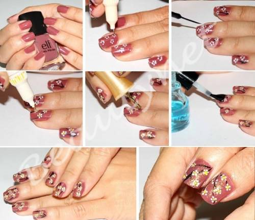 Простые рисунки на своих ногтях своими руками