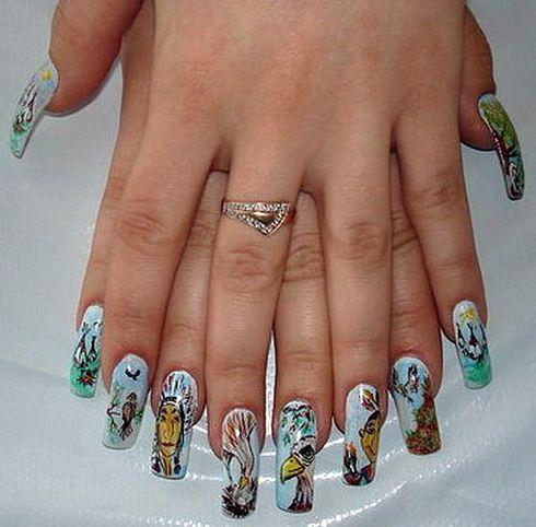 Дизайн ногтей видео под гель