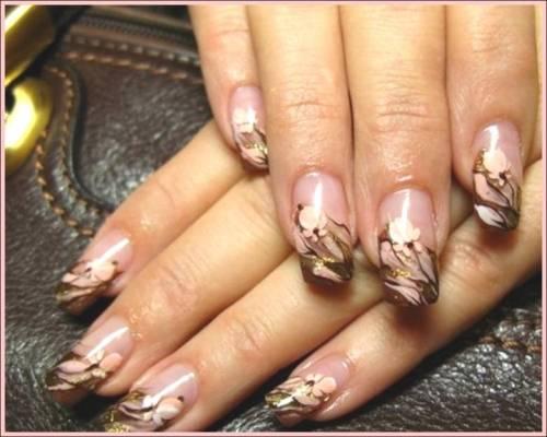 Дизайн коротких гелевых ногтей