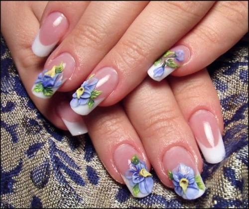 Наращивание ногтей аквариумный дизайн фото