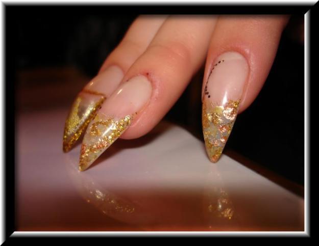 Дизайн ногтей с золотом фото дизайн