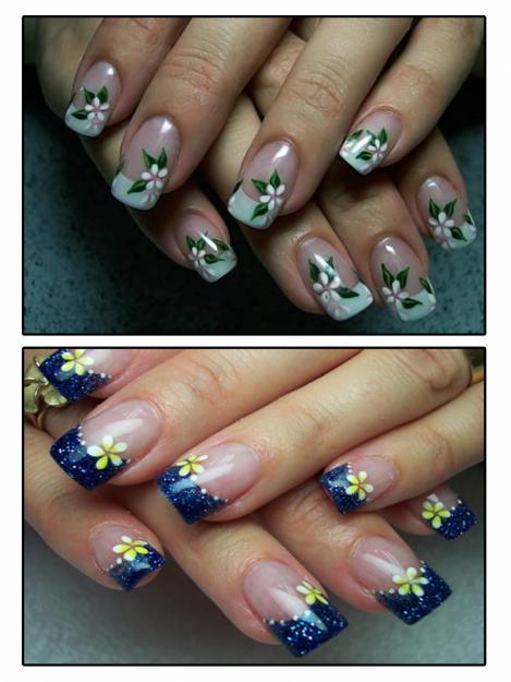Ромашки на ногтях фото пошагово для начинающих
